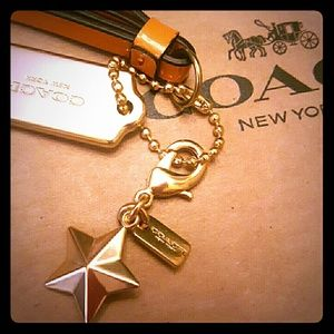 Coach STAR Bubble Charm -Gold -New